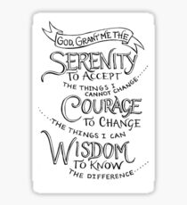 Simply the Serenity Prayer Sticker