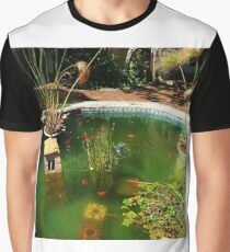 Peaceful Goldfish Pond Graphic T-Shirt