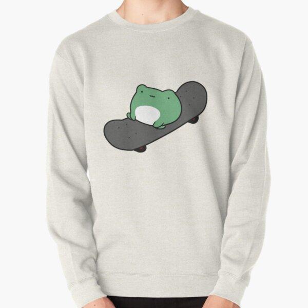 Skateboarding Frog Pullover Sweatshirt