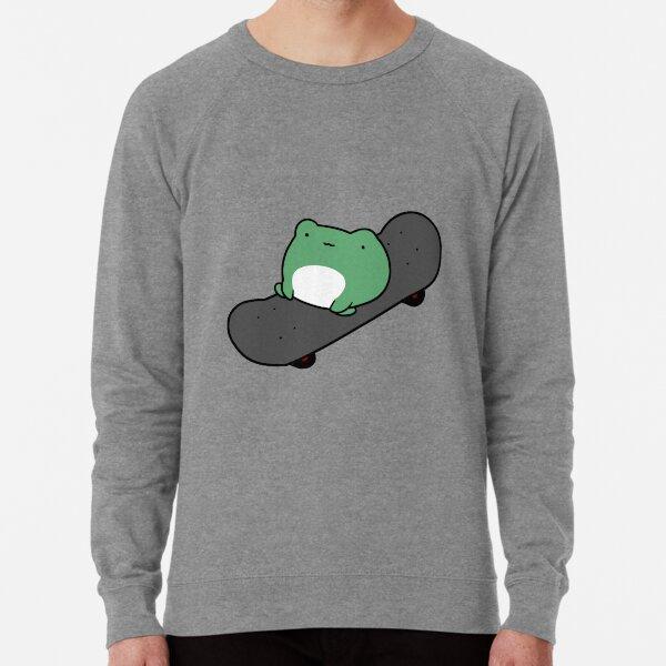 Skateboarding Frog Lightweight Sweatshirt