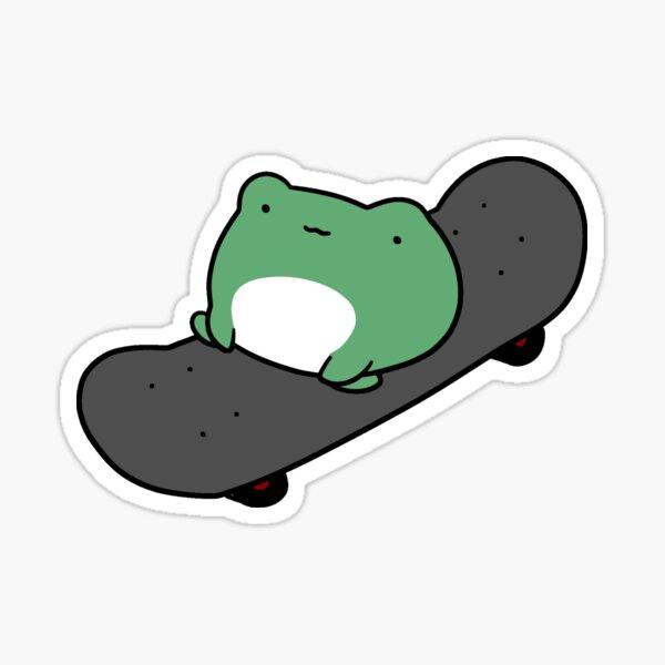 Rana de skateboarding Pegatina