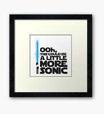 SonicSaber Framed Print