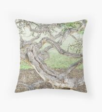 Contorted Throw Pillow