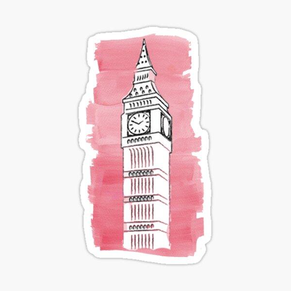 Big Ben Watercolor Sticker