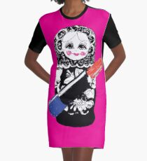 Lady Matryoshka  Graphic T-Shirt Dress