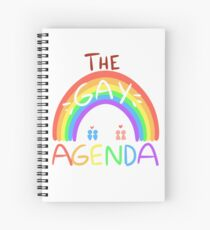 The Gay Agenda Spiral Notebook