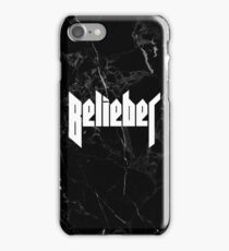 Belieber - Black & White Marble iPhone Case/Skin