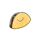 Happy Taco White Background by Claire Lordon