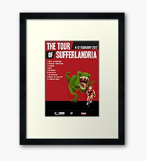 Official Tour of Sufferlandria 2017 Poster - FEMALE Rider Framed Print