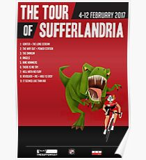 Official Tour of Sufferlandria 2017 Poster - FEMALE Rider Poster
