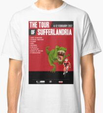 Official Tour of Sufferlandria 2017 Poster - FEMALE Rider Classic T-Shirt