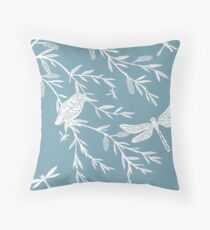 Blue Willow Paper Cutting Throw Pillow