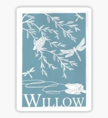 Blue Willow Paper Cutting Sticker