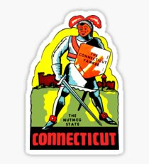 Connecticut CT State Vintage Travel Decal Sticker