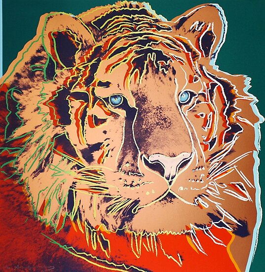 Siberian Tiger - Andy Warhol by BlueVisionInk