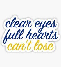 matt saracen friday night lights clear eyes full hearts cant lose Sticker