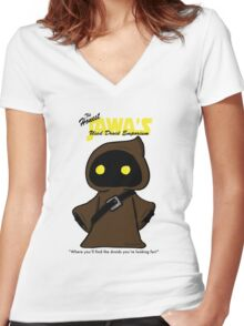Honest Jawa's Used Droids Emporium Women's Fitted V-Neck T-Shirt