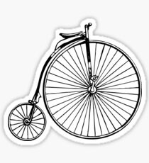 Penny Farthing Bicycle Sticker