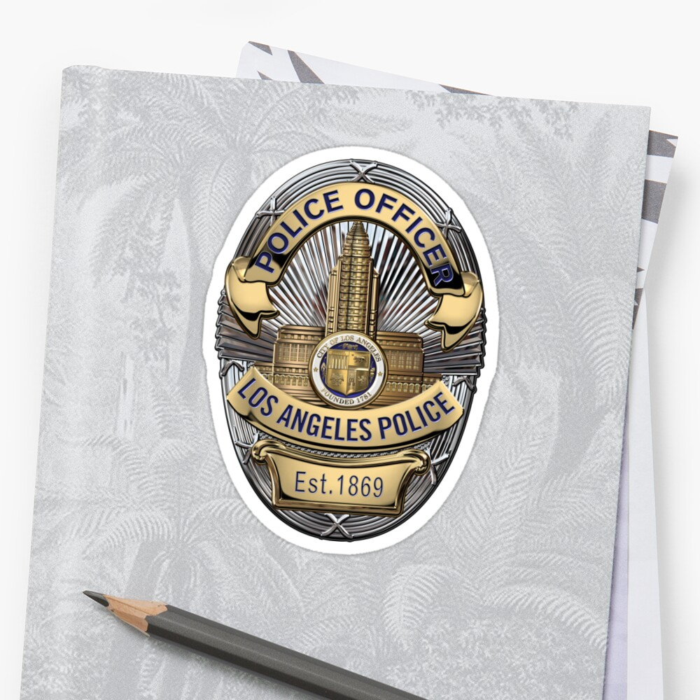 Quot Los Angeles Police Department Lapd Police Officer Badge