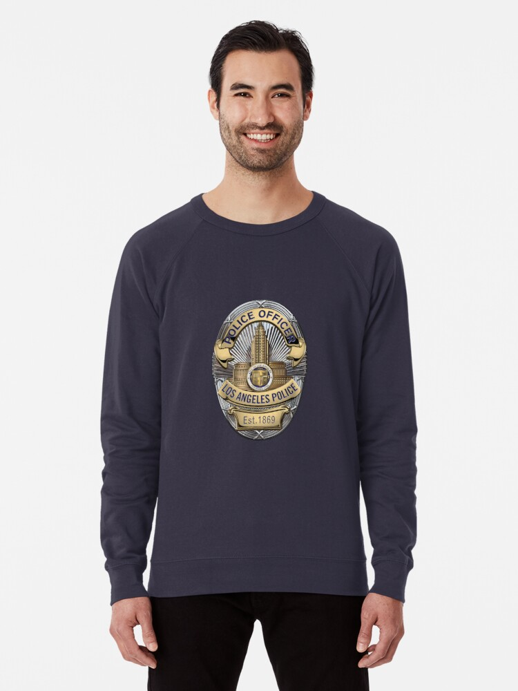Navy Lives LAPD Los Angeles Police Department Blue Mens Gray Hoodie