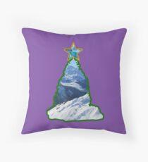 Christmas Tree Snow Scene Throw Pillow