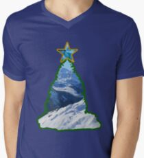 Christmas Tree Snow Scene T-Shirt