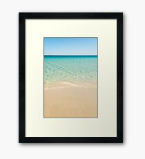 beach sand water Framed Print