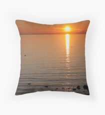 Sunset Over Water Throw Pillow