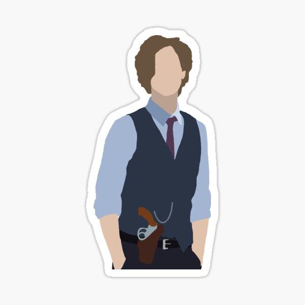 dr. spencer reid silhouette Sticker