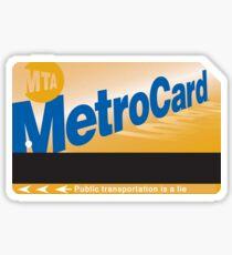 Metrocard Sticker Sticker