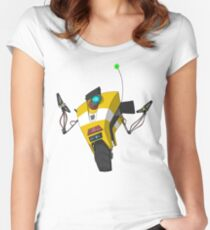 Claptrap Sticker Women's Fitted Scoop T-Shirt