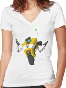 Claptrap Sticker Women's Fitted V-Neck T-Shirt
