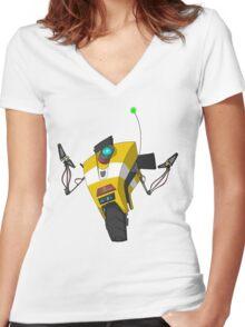 Claptrap Sticker Women's Fitted V-Neck T-Shirt