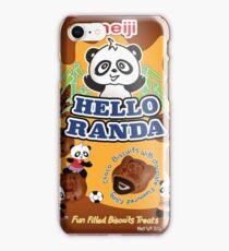 Hello randa panda chocolate biscuits iPhone Case/Skin
