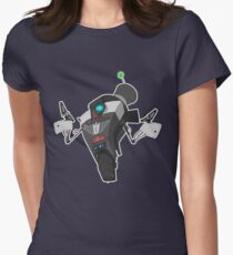 Fancy Claptrap Sticker Womens Fitted T-Shirt