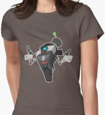Fancy Claptrap Sticker Women's Fitted T-Shirt
