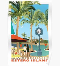Fort Myers Beach Pier (Times Square, Estero Island) Poster
