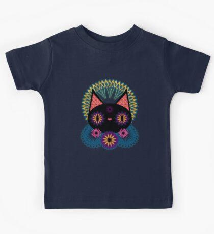 Dark Floral Feline Charm Kids Clothes