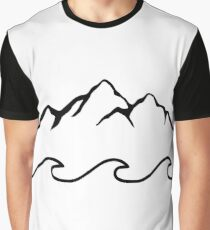 Mountains and Sea  Graphic T-Shirt