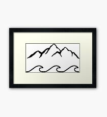 Mountains and Sea  Framed Print