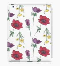 Watercolor Flower Pattern iPad Case/Skin