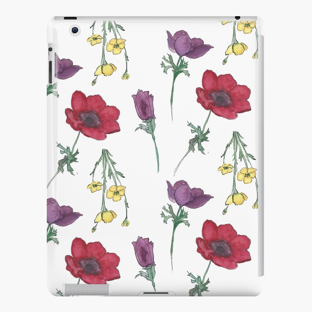 Patrón de flor de acuarela Funda y vinilo para iPad