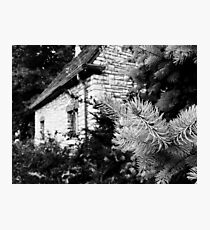 Black and White of a Small House  Photographic Print