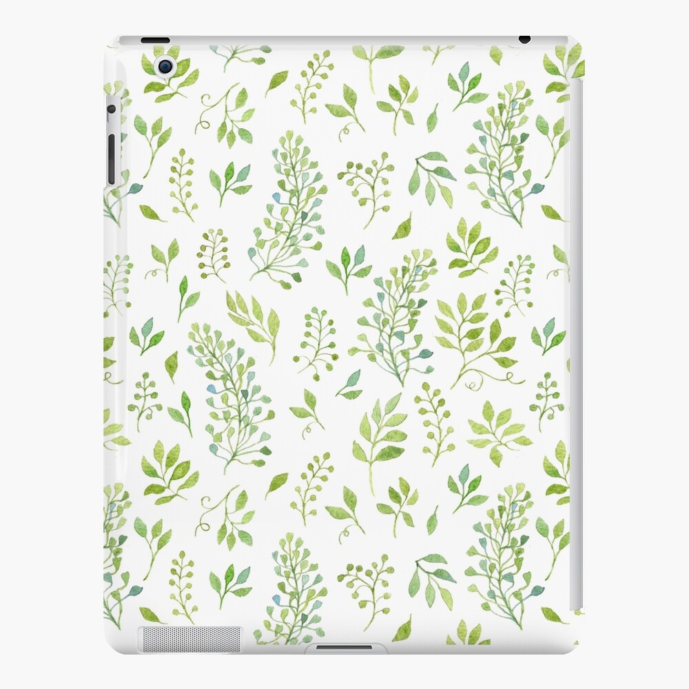 09b73a076111 Watercolor leaves pattern | iPad Case & Skin