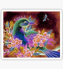 Paradise Bird in Blossoms Sticker