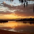 Sunset at the mouth of the Nambucca River by Edwin Davis