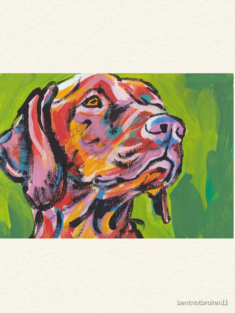 Vizsla Dog Arte pop colorido brillante de bentnotbroken11