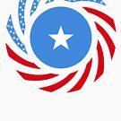 Somali American Multinational Patriot Flag Series by Carbon-Fibre Media