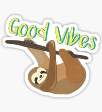 Sloth Good Vibes Sticker