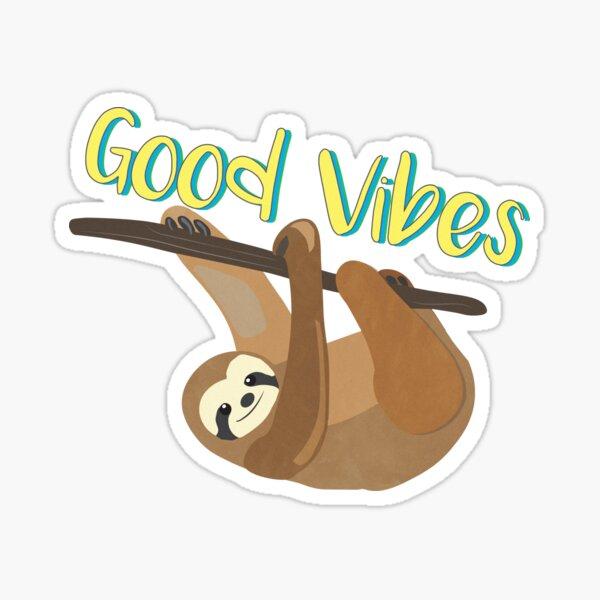 Sloth Good Vibes Sticker